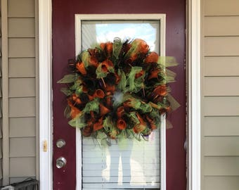 Halloween Deco/tulle Wreath and Garland Set