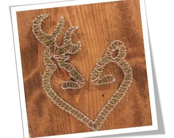 His & her deer string art