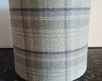 Lampshade Jade Green Tartan / Handmade Light Shade / Woolen Tartan / For Floor Lamp/ For Ceiling Lamp / Pendant / Lampshades/ Drum