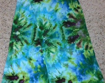 Hand dyed bamboo scarf 14 x 72