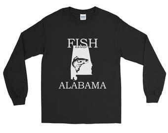 Fish Alabama Fishing Long Sleeve T-shirt   Fishing Apparel