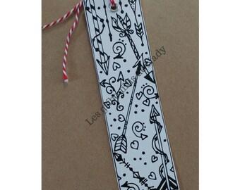 Bookmark arrows ready for coloring - bookmark - mandala - zentangle - arrow - handmade-