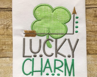 Lucky Charm Girls Embroidered T-shirt
