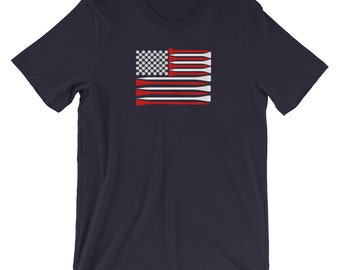 USA Flag Golf Shirt, Golf tshirts for Men, Youths and Women (shipped from USA, UK & Europe)