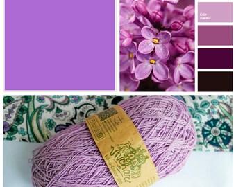 Lilac yarn Eco yarn Cotton yarn Linen yarn Summer yarn Crochet yarn Ethno-cotton 1200 Cotton linen yarn Premium yarn Baby yarn