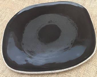 Small Square Stoneware Plate/Platter