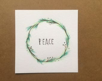 PEACE watercolor painting