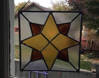 Star Staines Glass Suncatcher