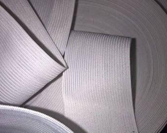 2 m elastic white collar, 3 cm or 30 mm