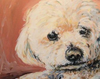 Custom Pet Portrait Painting - 12x16