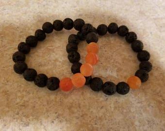 Lava Rock Bracelet Set