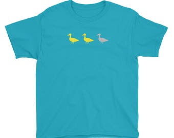 Duck Duck Grey Duck - Funny MN - Gray Duck or Goose Minnesota Youth/Kids Short Sleeve T-Shirt