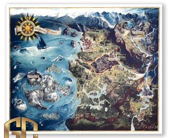 World map for the Witcher 3  universe geralt cosplay