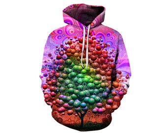Tree Hoodie, Outdoor Hoodie, Tree Sweatshirt, Nature Hoodie, Art, Hoodie Art, Hoodie Pattern, Pattern Hoodie, Hoodie, 3d Hoodie - Style 11