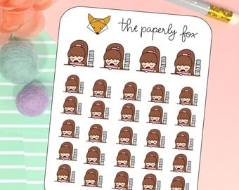 coffee addict - planner sticker P004