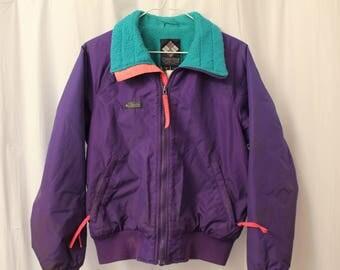 Vintage 80s Columbia Fleece Lined Coat - Women's M