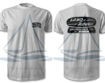 Land Rover Defender 110 TShirt, Badge, Novelty T-Shirt, Cars, Novelty Gift, Defender T-Shirt, Land Rover T-Shirt Adults