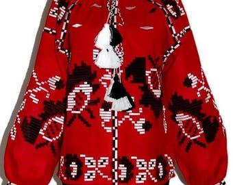 Vyshyvanka Woman Boho Ukrainian Embroidery Bohemian Clothing Gift Embroidered Blouses Ethnic Folk Vishivanka Gypsy style Ukraine boho