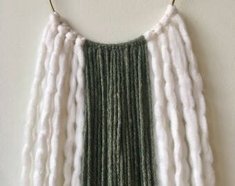 Olive Striped Wall Hanging