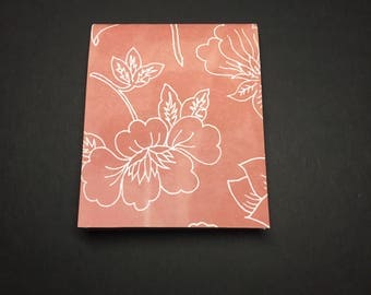 Pink Flower Mini Notebook - Small Pink Notebook - Small Notepad - Pink Notebook
