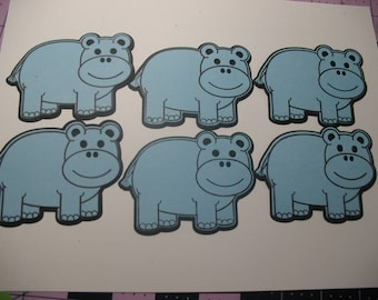 Blue Hippo Die Cuts