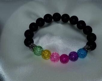 Pastel Rainbow Essential Oil Diffuser Bracelet