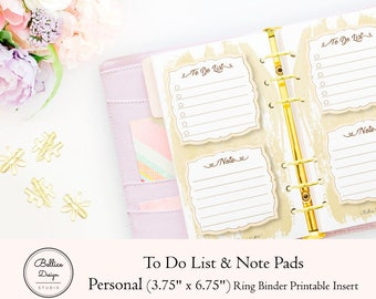 To Do List Notepad, List Notepad, Notepad Printable, Printable Notes Page, Personal Size Inserts, Personal Printable, Note Pads, List Pad