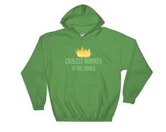 Coolest Monkey In The Jungle HM Controversial Political Social Justice Supports Hoodie, Coolest Monkey Hoodie, Monkey Crown Sweater