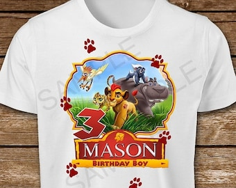 ON SALE 30% The Lion Guard Iron On Transfer. Lion Guard Birthday Boy Iron On Transfer. Lion Guard Iron On T-Shirt Printable.
