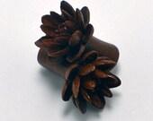 Water Lily Organic Ear Gauge Plugs (6g) - Sabo Wood