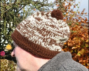 Hand Knitted Bobble Hat, Pom Pom Hat, Hat for Him, Hat for Her, Adult Hat, Beanie Hat, Stocking Filler, Secret Santa Gift, Knitted Hats,