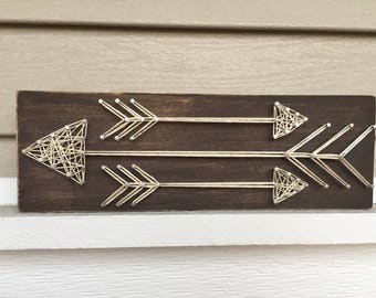 Arrow Trio String Art | Arrow String Art | Arrow Wall Art | Home Decor | Housewarming Gift