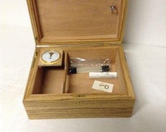 Humidor, Wooden humidor, Zebra wood, Cigars, Cigar lover, Gift, Cigar Holder, Father's Day, Christmas, Birthday