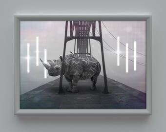 Wabi Sabi Unicorn Digital Art print