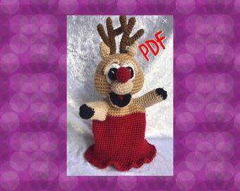 Tuto/pattern PDF Marionette renne crochet