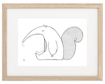 Anteater Hand Painted