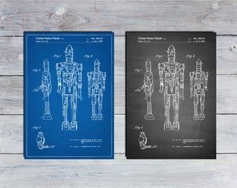 Star Wars IG-88 Printables, Starwars Art, Star Wars Character, IG-88 Print, Star Wars Wall Art, Bounty Hunter, Empire Strikes Back, IG88