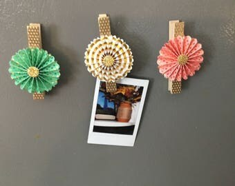 Clothespin magnets set of 3