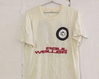 Vintage Paul Weller Rock Concert Tour T Shirt The Jam Modfather Rare! XL