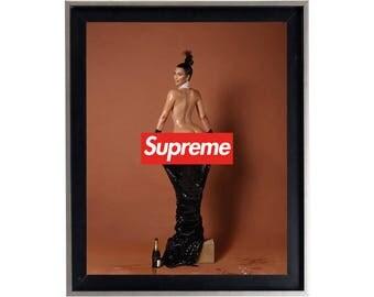 Supreme x Kim Kardashian Poster or Art Print