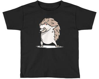 Funny Dabbing Hedgehog Kids Short Sleeve T-Shirt