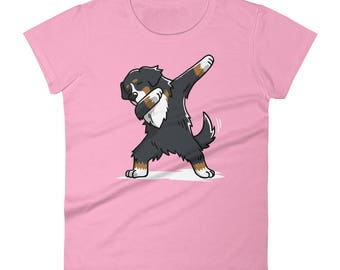 Funny Dabbing Bernese Mountain Shirt, Cute Dab Dance Dog Gift, Bernese Mountain Women's T-Shirt