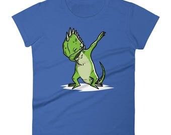 Funny Dabbing Iguana Shirt, Cute Dab Dance Pet Gift, Iguana Women's T-Shirt