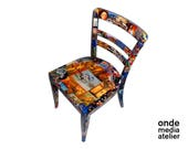 Decoupage Chair-Artistic ...