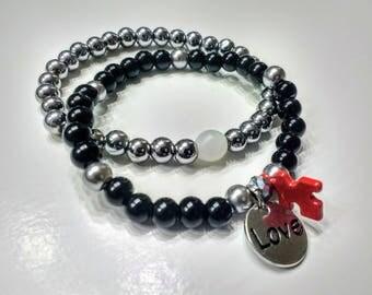 Autism is love charm bracelet
