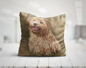 TERRA Sweet Dog Best Pillow Gifts, Throw Pillow with Dog, Dog Lover Gift, Dog Mom Gift, Pillow Christmas Gifts, Pet Gifts For Her