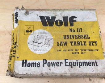 Vintage Wolf No.117 Universal Saw table set