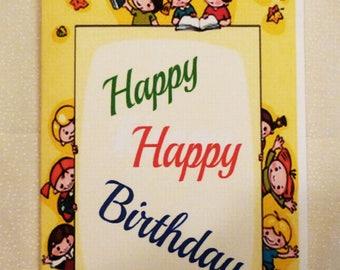 Handmade Greeting Card, Happy happy  Birthday Card, All Occasion Card, Childrens Birthday Greeting Card, Made in the USA, #3