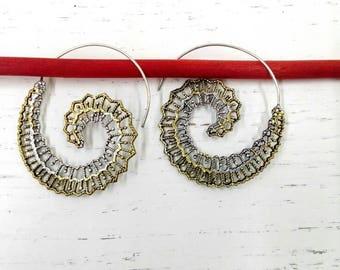 Ethnic Style spiral Earrings
