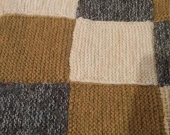 Hand-knit blanket